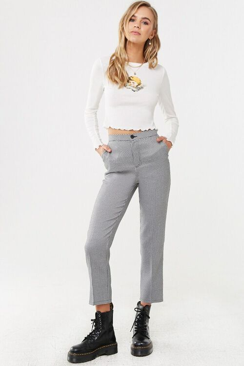 Houndstooth Ankle Pants, image 4