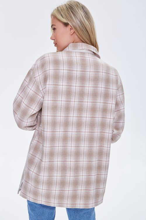 Plaid Button-Front Shacket, image 3