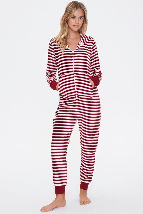 Striped Hooded Pajama Jumpsuit, image 4