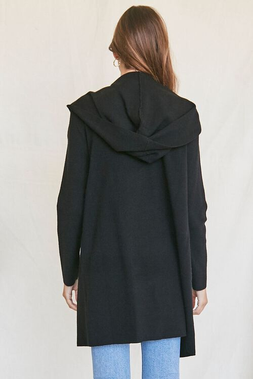 BLACK Open-Front Cardigan Sweater, image 3