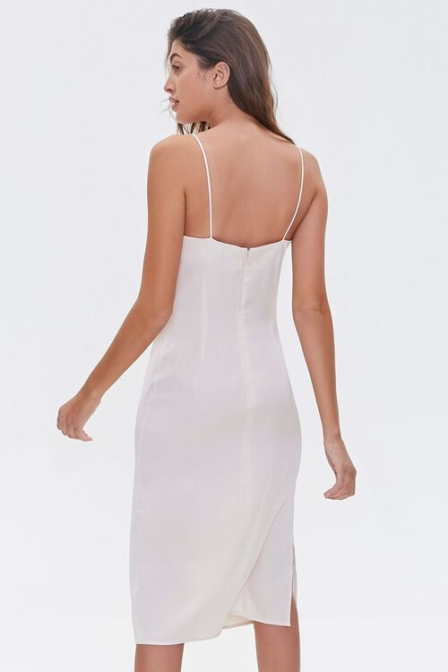 Satin Cowl-Neck Slip Dress, image 3