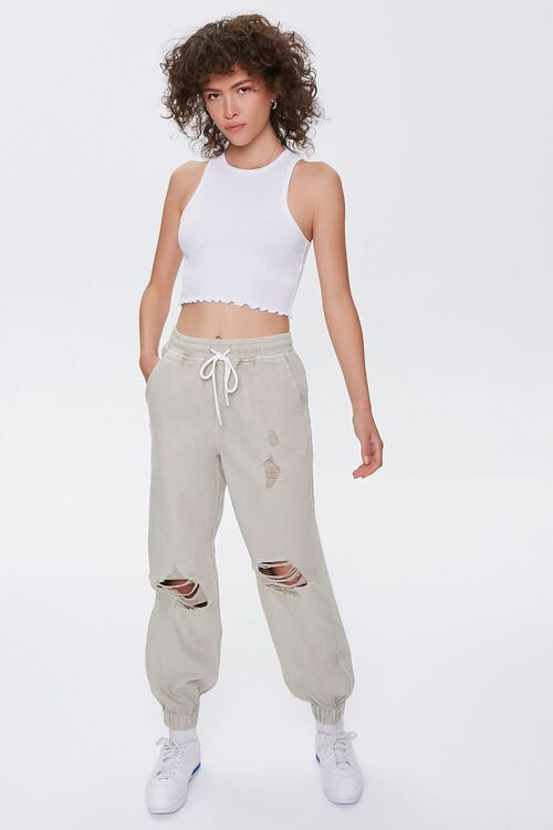 Lettuce-Edge Cropped Tank Top, image 4