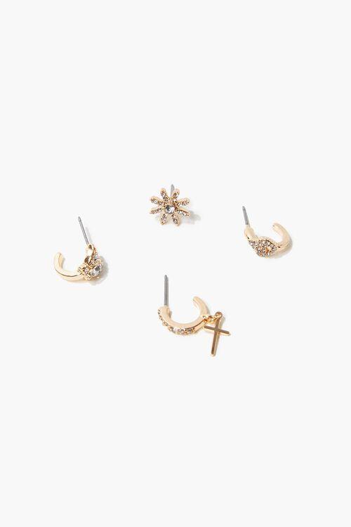 Rhinestone Earring Set, image 1
