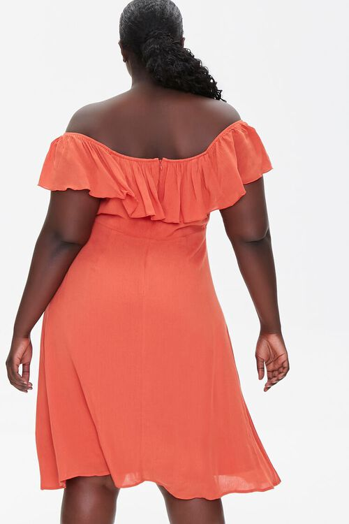 Plus Size Off-the-Shoulder Dress, image 3