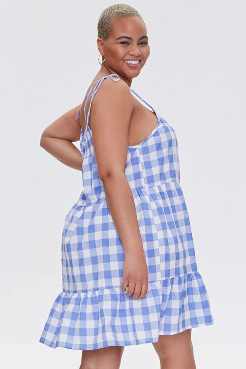 Plus Size Gingham Mini Dress, image 2