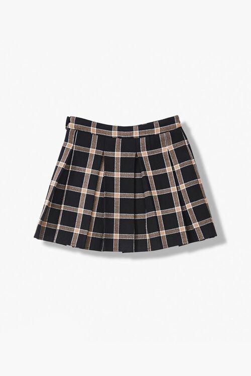 Girls Pleated Plaid Skirt (Kids), image 2