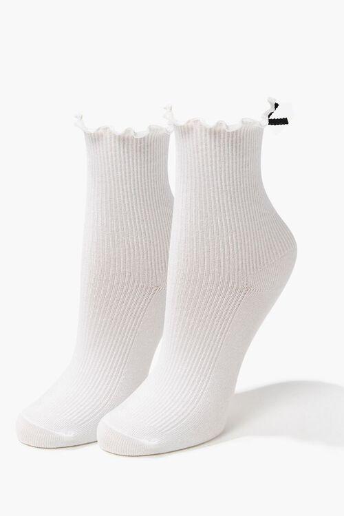 Lettuce-Edge Ribbon Socks, image 2