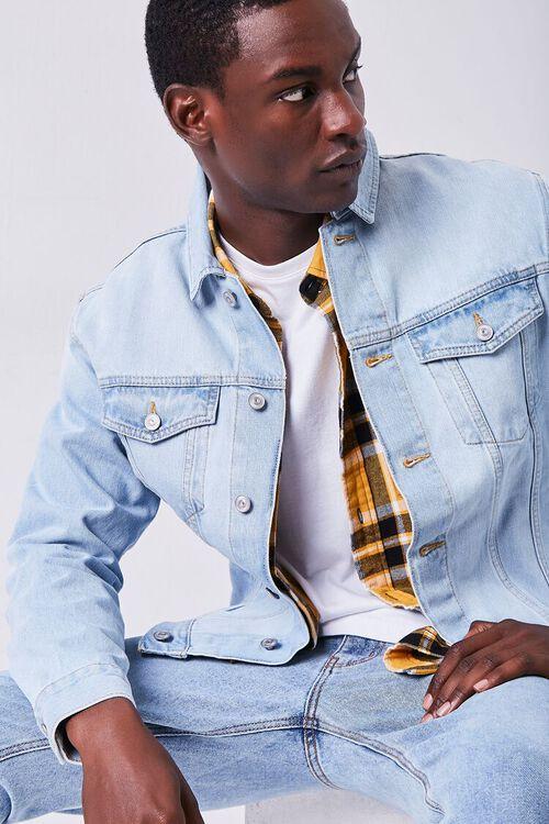 LIGHT DENIM Buttoned Denim Jacket, image 1