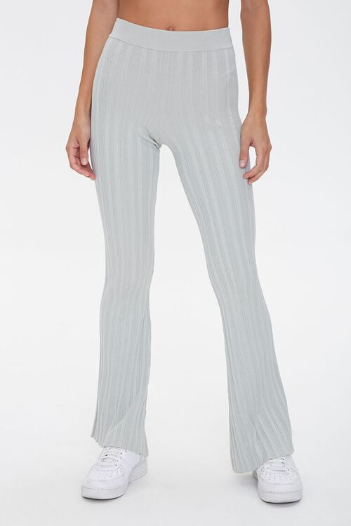 Ribbed Flare-Leg Pants, image 2