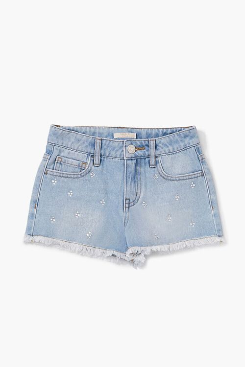 Girls Faux Gem Denim Shorts(Kids), image 1