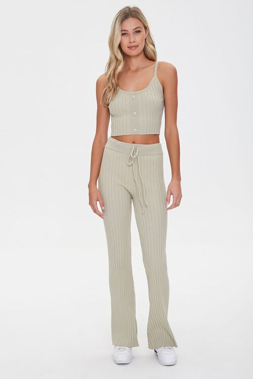 Ribbed Drawstring Sweatpants, image 5