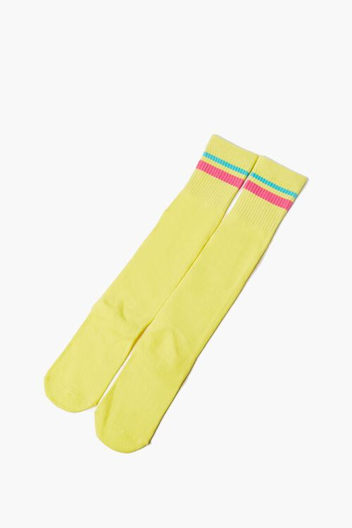 Striped-Trim Knee-High Socks, image 2