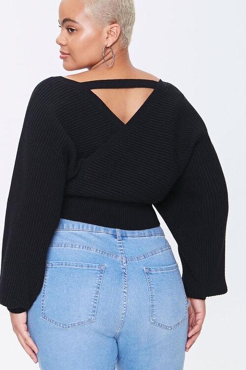 Plus Size Surplice Sweater, image 3