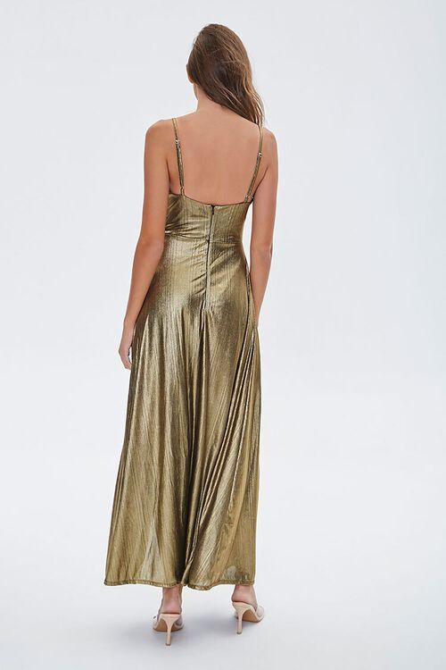 GOLD Metallic Cami Maxi Dress, image 3