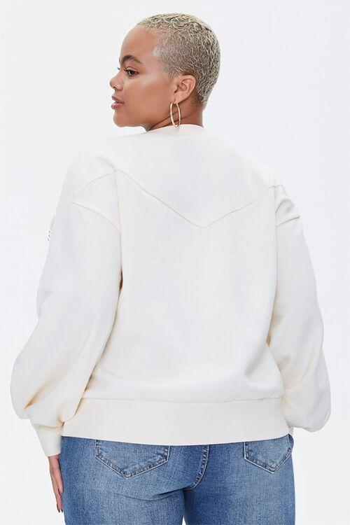 Plus Size Faux Pearl-Trim Sweater, image 3