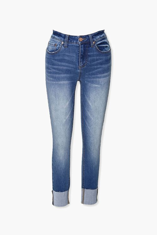 Recycled Cuffed Skinny Jeans, image 1