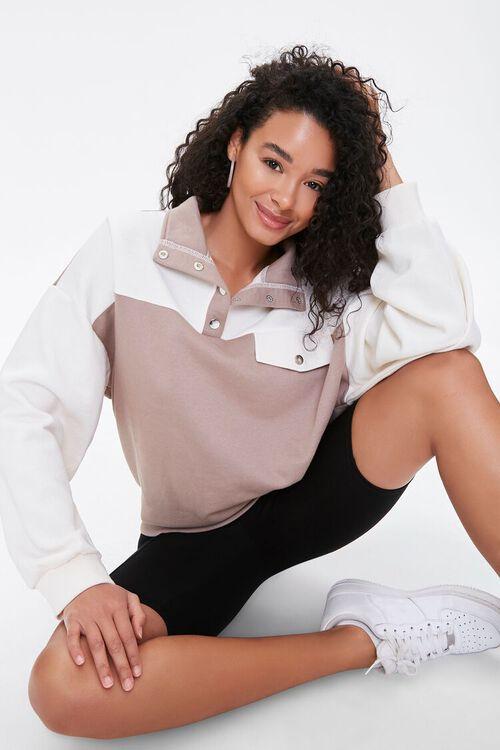 Colorblock Fleece Pullover, image 1