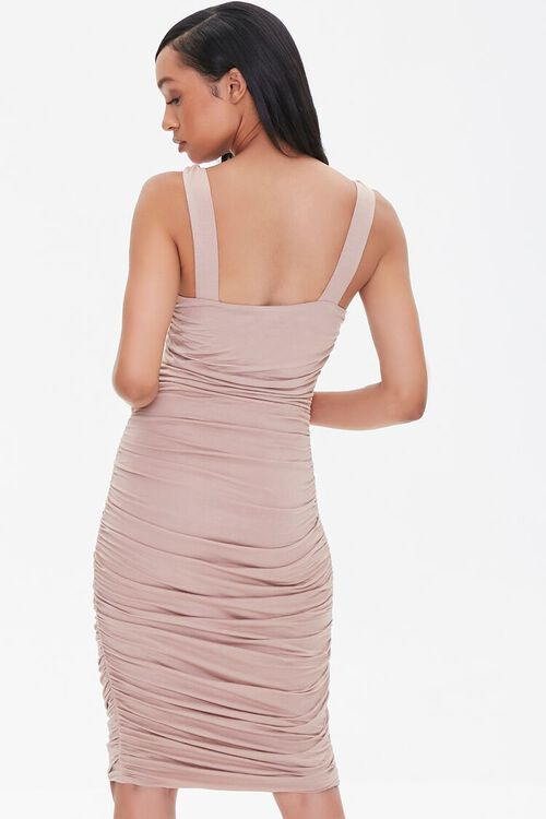 Ruched Knee-Length Bodycon Dress, image 3