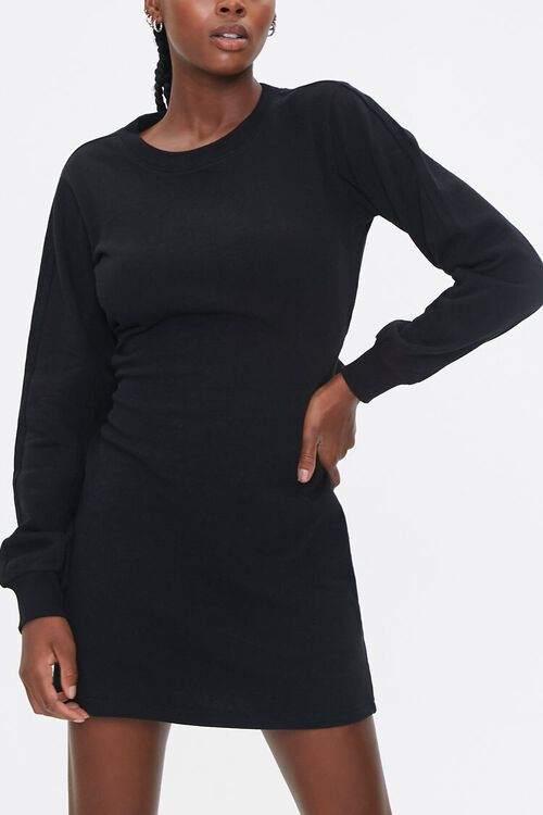 French Terry Cutout Dress, image 1