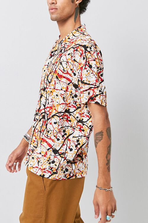 CREAM/MULTI Classic Fit Paint Splatter Shirt, image 2