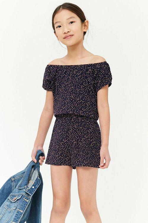 NAVY/PINK Girls Geo Print Romper (Kids), image 1