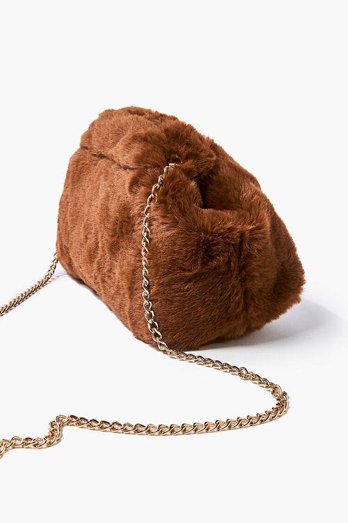 Plush Curb-Chain Shoulder Bag, image 2