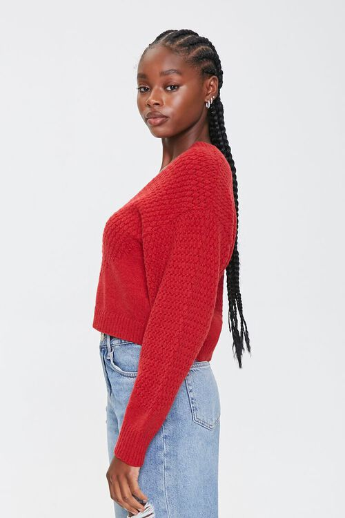 Textured Knit Cardigan Sweater, image 2