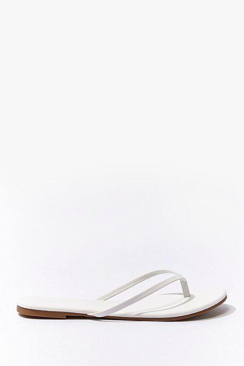 Faux Leather Flip Flops, image 1