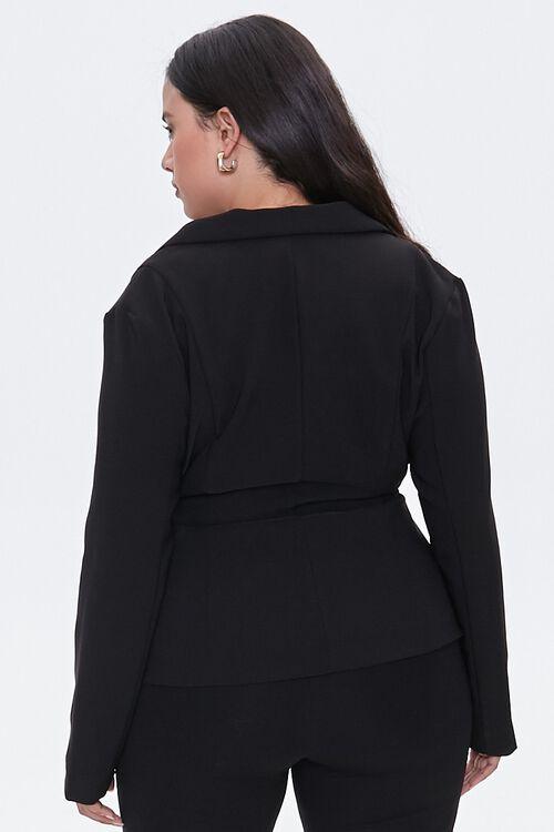 Plus Size Tie-Front Notched Blazer, image 4