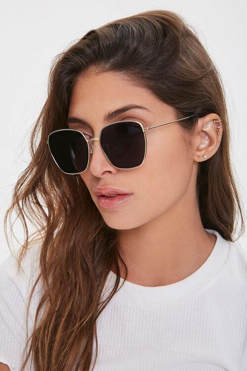 Tinted Geo Metal Sunglasses, image 1