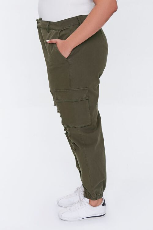 Plus Size Distressed Joggers, image 3