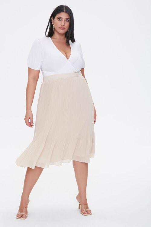 Plus Size Flowy Midi Skirt, image 1