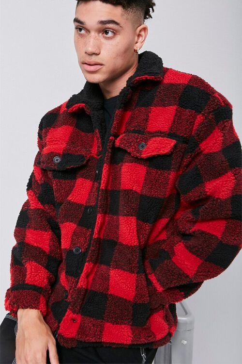 Faux Shearling Buffalo Plaid Jacket, image 1
