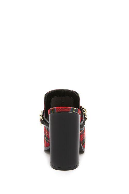 Plaid Curb-Chain Slide Heels, image 5
