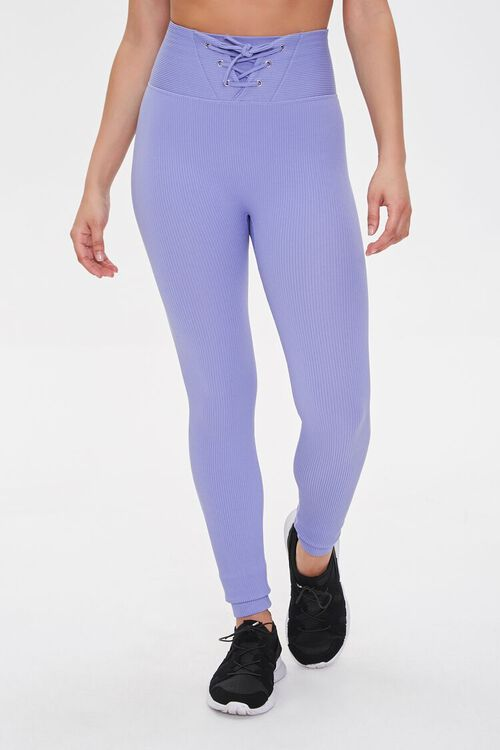 Active Seamless Lace-Up Leggings, image 2