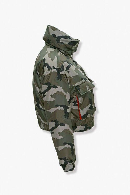 Plus Size Camo Puffer Jacket, image 2