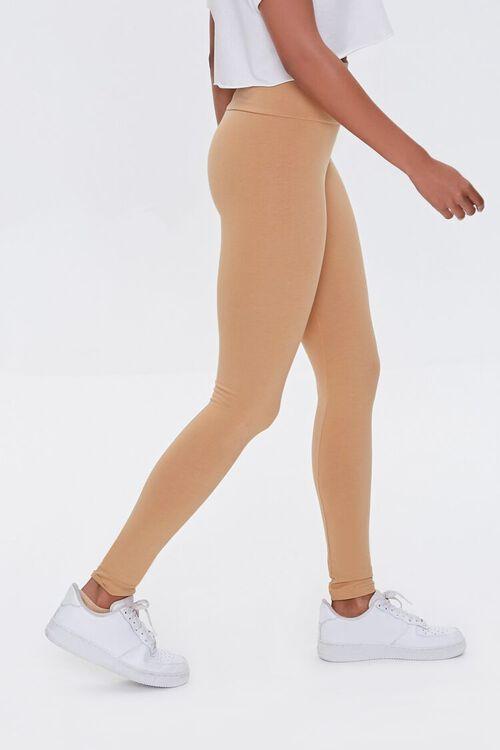 CAMEL Basic Organically Grown Cotton Leggings, image 3