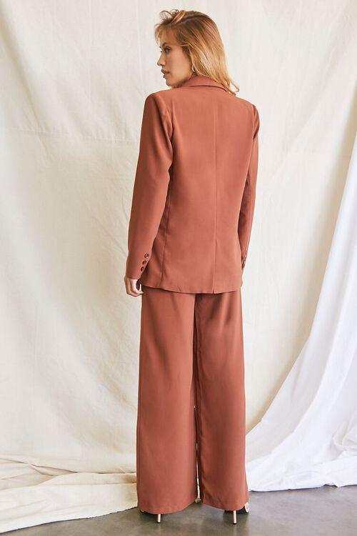 DARK BROWN Double-Breasted Blazer & Pants Set, image 3