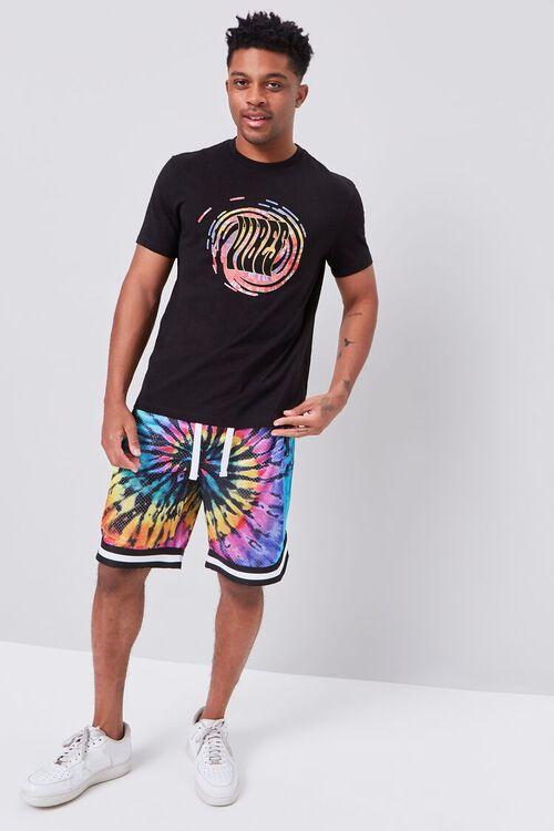 Tie-Dye Wash Drawstring Shorts, image 5