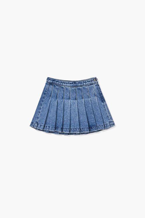 Girls Pleated Denim Skirt (Kids), image 3