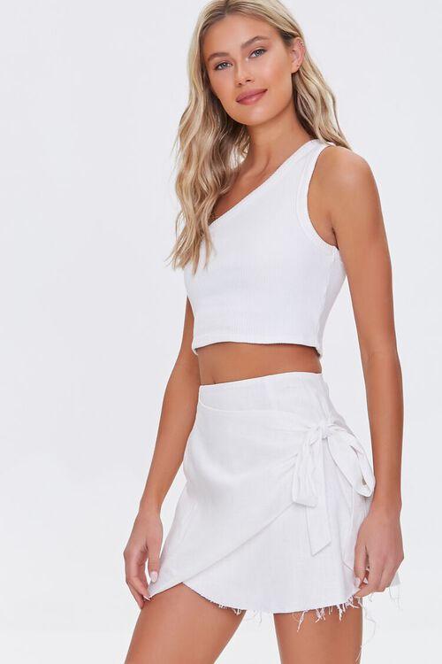 Frayed Wrap Skirt, image 5