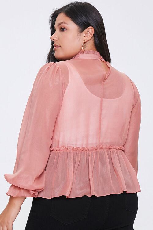 Plus Size Ruffled Peasant Sleeve Top, image 3