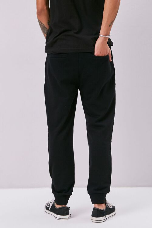 French Terry Drawstring Moto Joggers, image 4