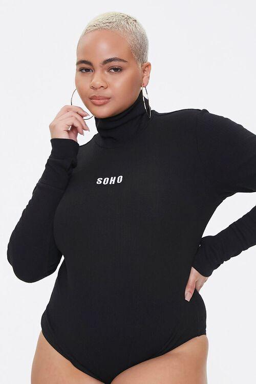 Plus Size Soho Mock Neck Bodysuit, image 6