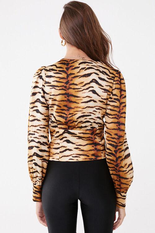 Leopard Print V-Neck Shirt, image 3