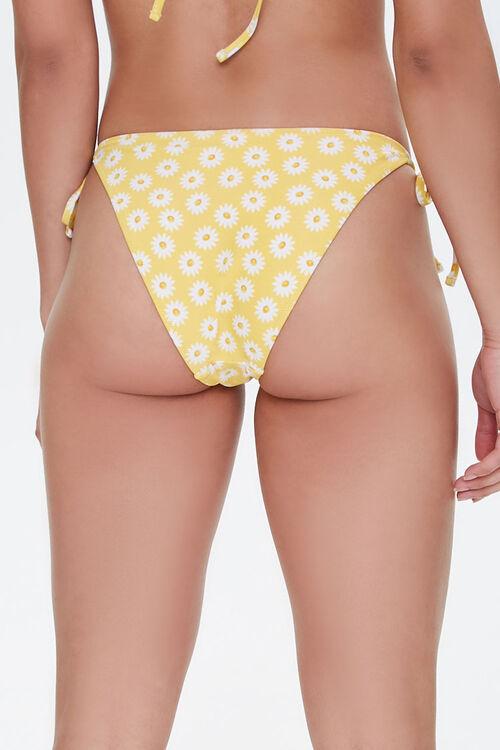 YELLOW/WHITE Floral String Bikini Bottoms, image 3