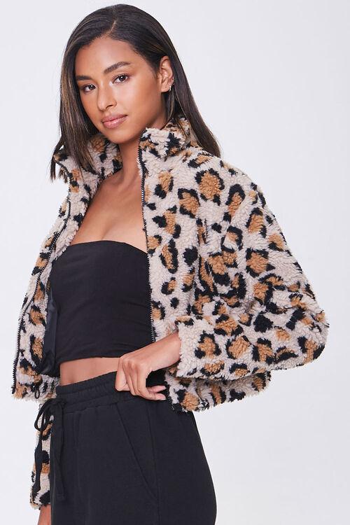 Faux Shearling Leopard Print Jacket, image 2