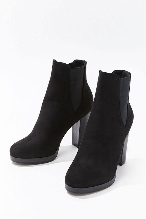 Faux Suede Chelsea Boots, image 3