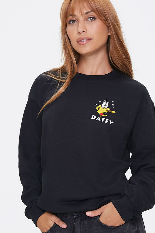 Daffy Duck Embroidered Graphic Pullover, image 1