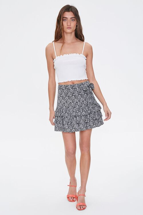 Floral Tiered Flounce-Hem Skirt, image 5
